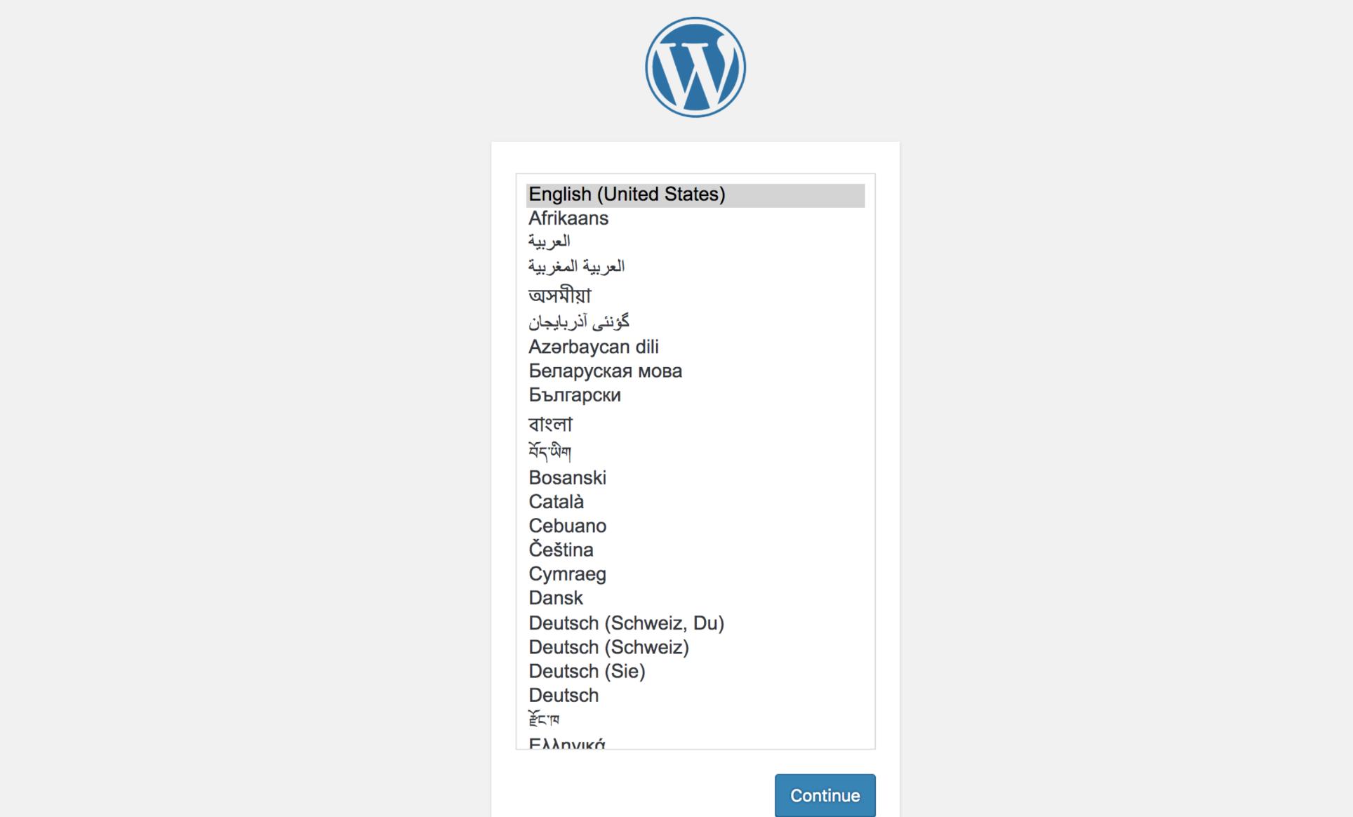 Access the WordPress service