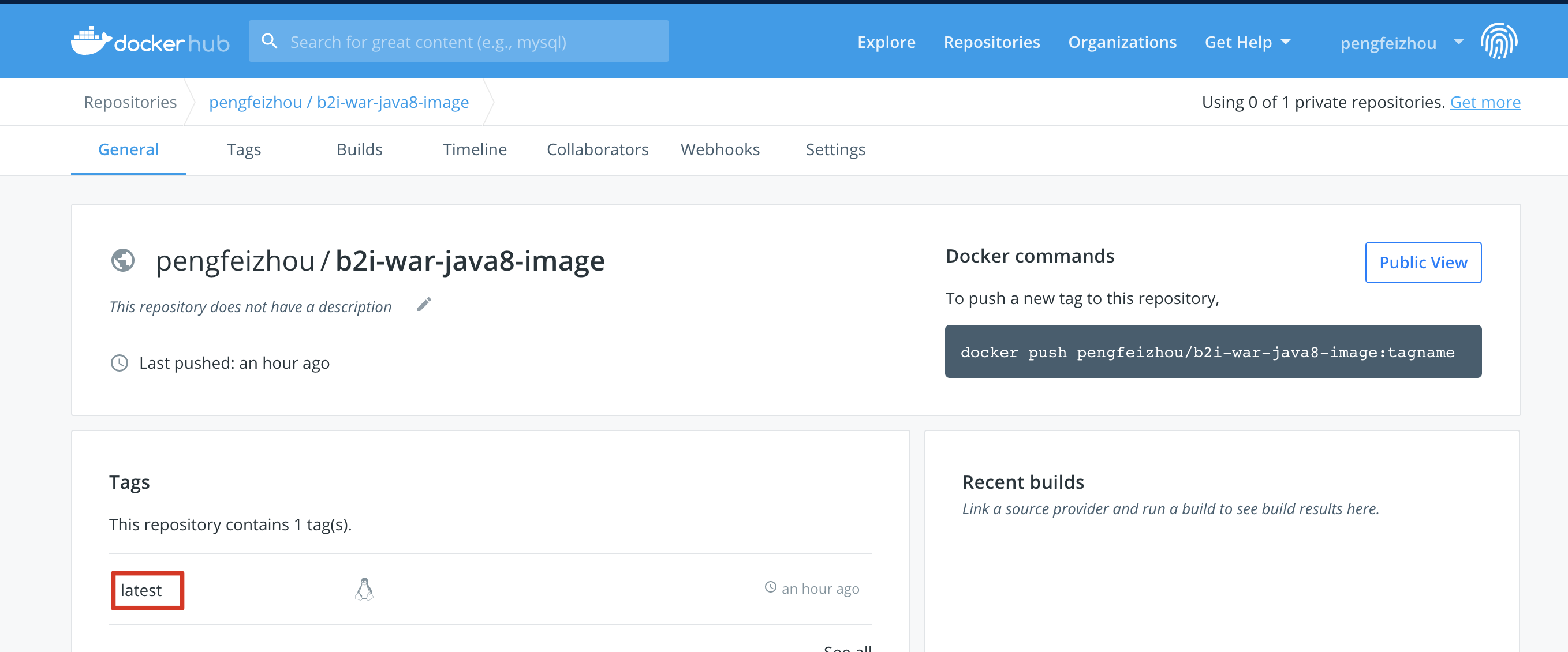 Image in DockerHub