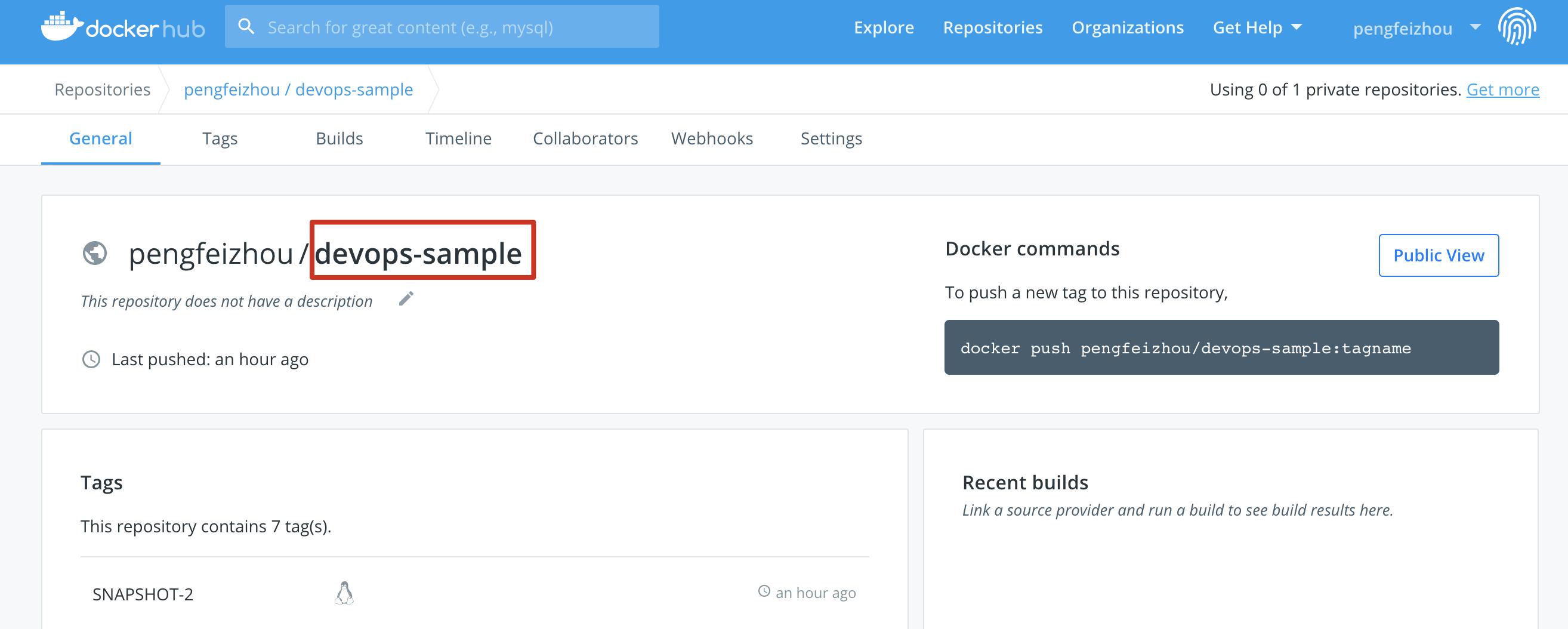 View DockerHub